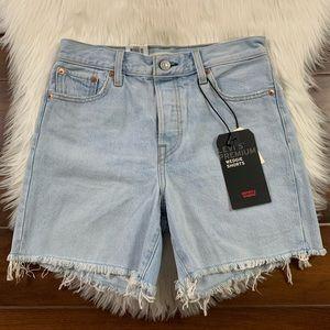 Levi's Vintage Authentic Wedgie Shorts Cut Off Hem